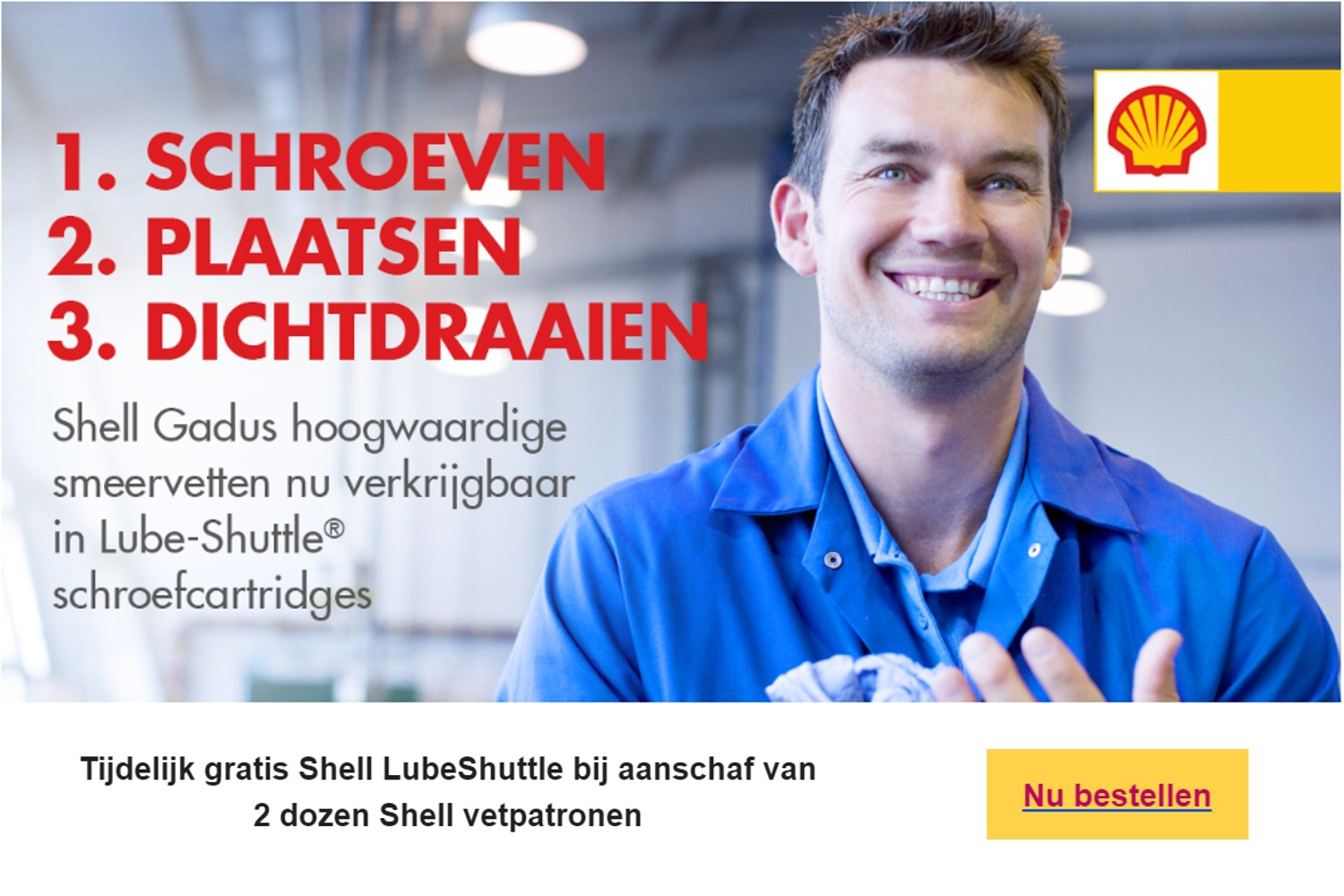 shell lubeshuttle actie 10 15